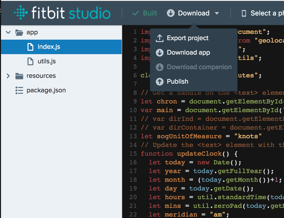 Writing JS apps for Fitbit Ionic — JavaScript January